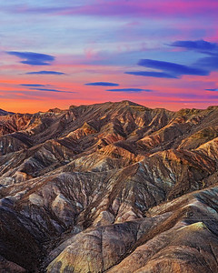 """Desert Waves,"" Zabriskie Point Badlands at Sunset, Death Valley National Park, California"