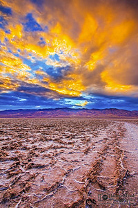 """Fire in the Sky,"" Badwater Basin Sunset, Death Valley National Park"
