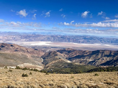 Badwater seen from Telescope Peak Trail.  Death Valley National Park