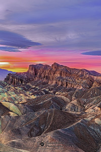 """Zabriskie's Last Light,"" Zabriskie Point Sunset, Death Valley National Park, California"