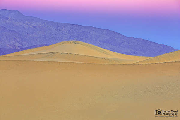 """Boundless,"" Dawn over Mesquite Sand Dunes, Death Valley National Park, California"