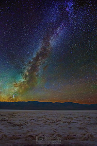 """Galactic Badwater,"" The Milky Way over Badwater Basin, Death Valley National Park"