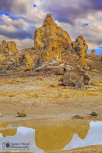 """Desert Spires,"" Trona Pinnacles Sunset Reflection, California"