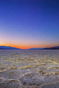 """Zenith,"" Nautical Twilight over Badwater Basin, Death Valley National Park, California"