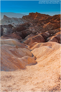 Sunset Colors at Zabriskie, Death Valley