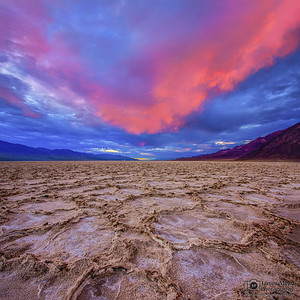 Badwater Basin at Sunset; Death Valley National Park