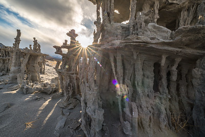 Tufa Sand Castle with Sun Star