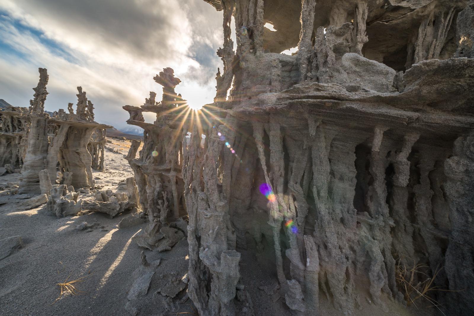 Tufa Sand Castle with Sun Star