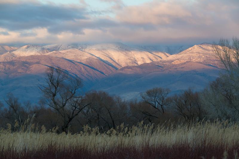 First light hits the Sierra