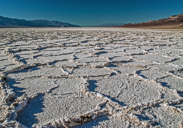 Salt flats, Dried Lakebed, Death Valley