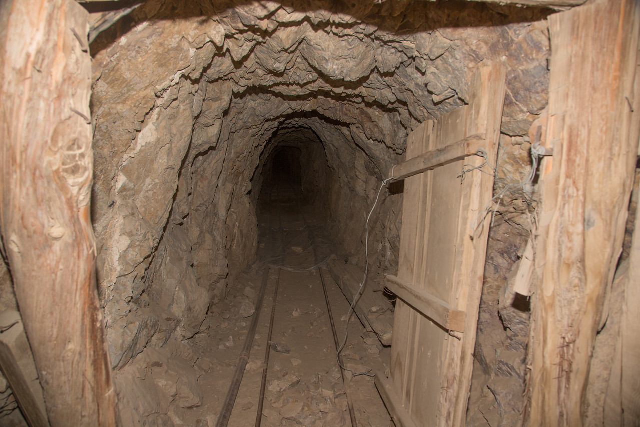 Skidoo Mine shaft. Gated off