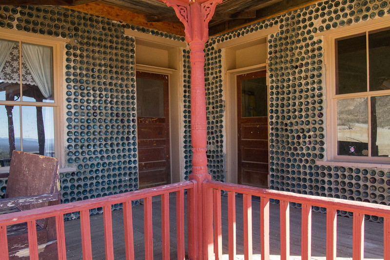 bottle house in Rhyolite, NV