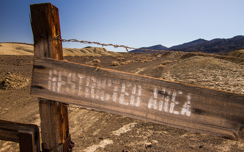 Corkscrew mine gate, US Borax