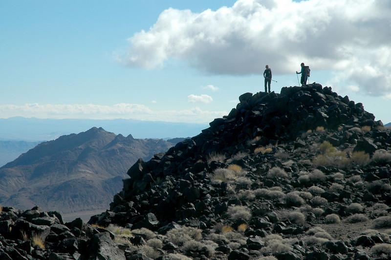 Robin and Sooz on the peak.