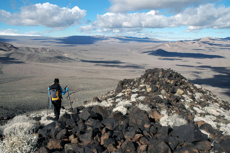On the rocky ridge.