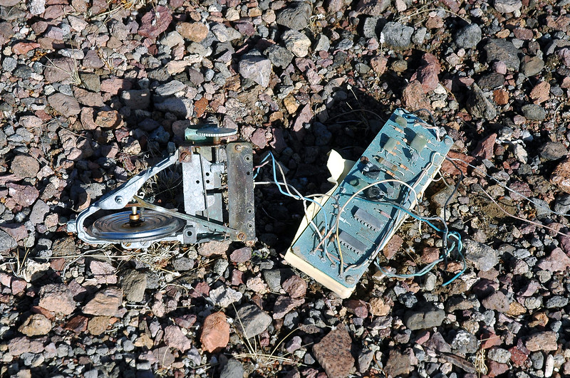 Robin found these components that are from an old weather ballon.