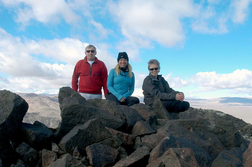 Group shot on the peak.