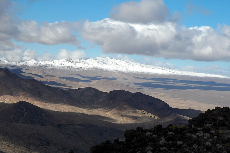 Even the Funeral Mountains to the north were covered in snow.