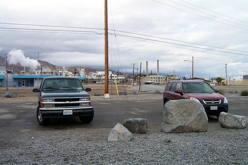 We stopped for a short break in Trona at the rest area.