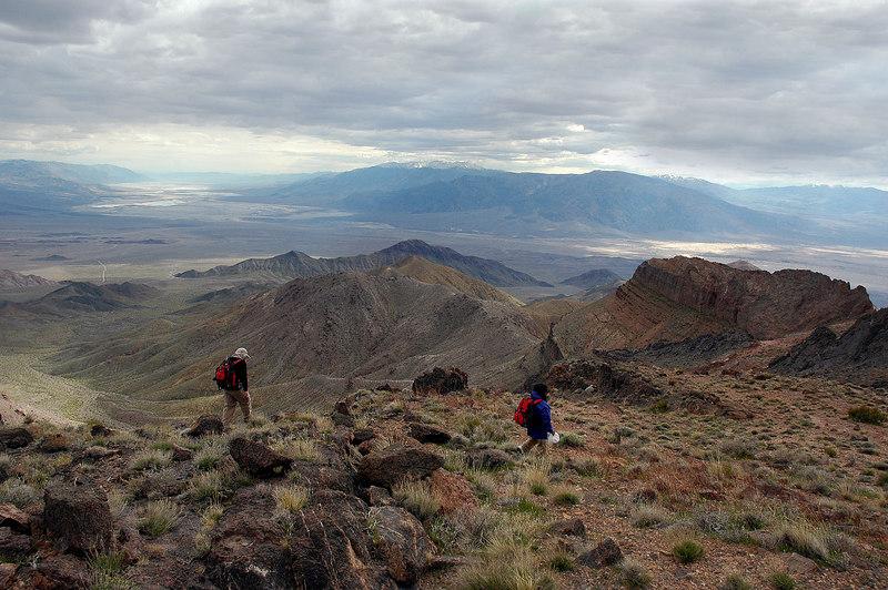 The ridge seened twice as steep on the way down.