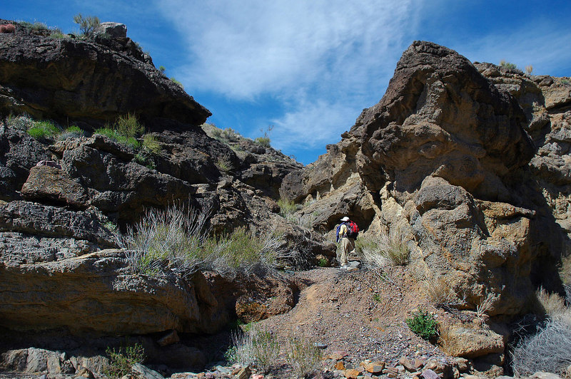 This is the entrance to the ridge. It starts up a small tight canyon.