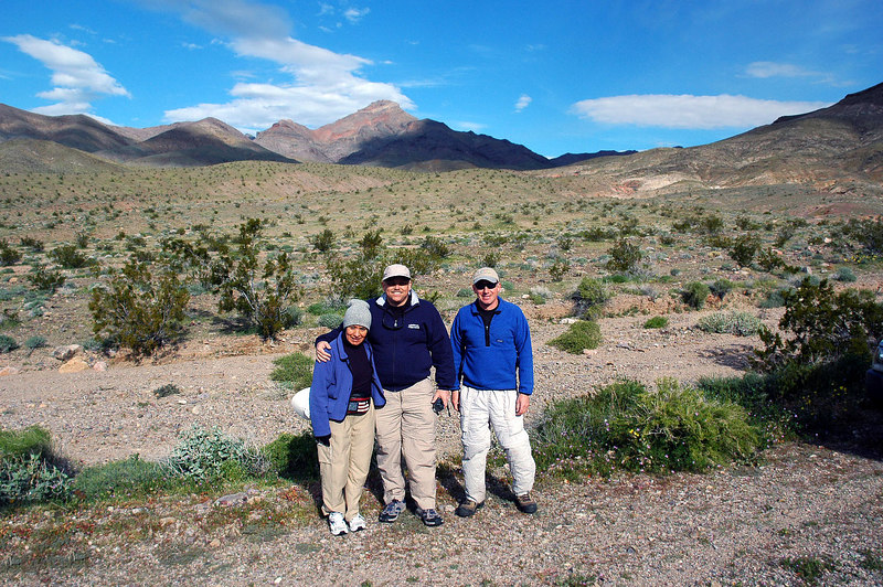 Gabriela, Bruce and Joe (me) at the starting point for the hike 2,560'.