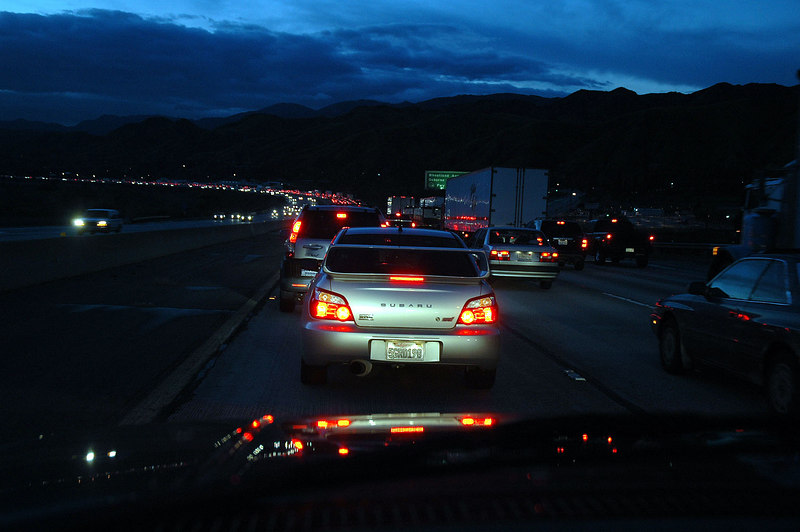 My trip to Death Valley starts in tarffic on the 210 Freeway.