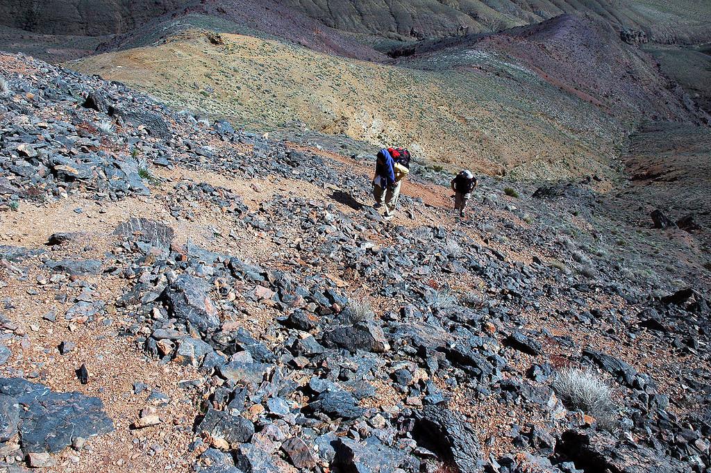The ridge gets steeper.