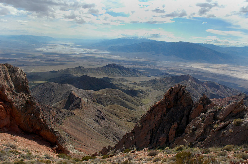 Looking down Death Valley in the distance.