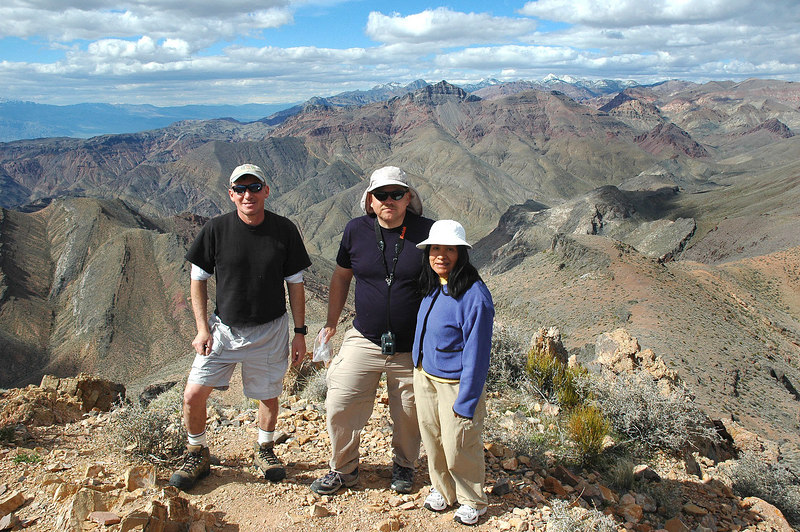 Us on the summit of Corkscrew Peak 5,804', Thimble Peak in the background.
