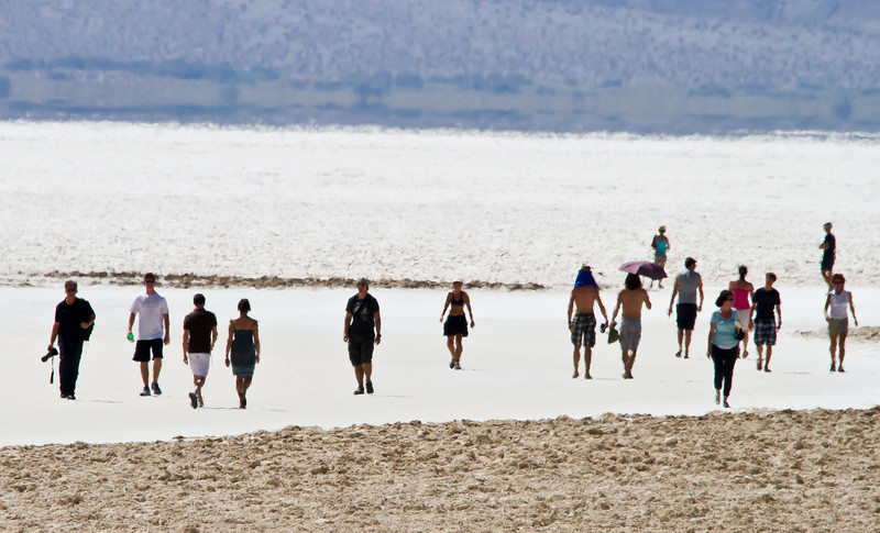 113 Badwater, Death Valley, 282 below sea level.  120 plus degrees in August