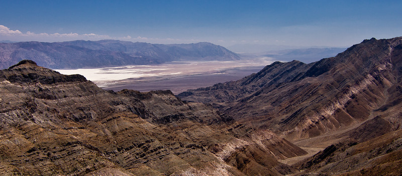 100 Aguereberry Point.  View south through Death Valley