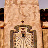 Scotty's Castle, Death Valley National Park.  It is 1:00 pm on the courtyard sundial clock