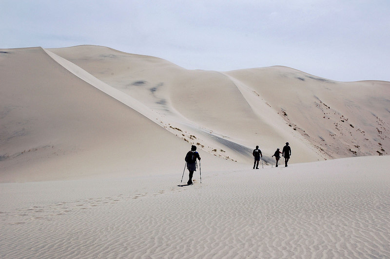 Getting close to the tallest dune, it's the second one from the left.