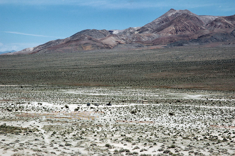 Looking back at our camp site as we start to gain a little altitude. A section of the Last Chance Mountains in back.