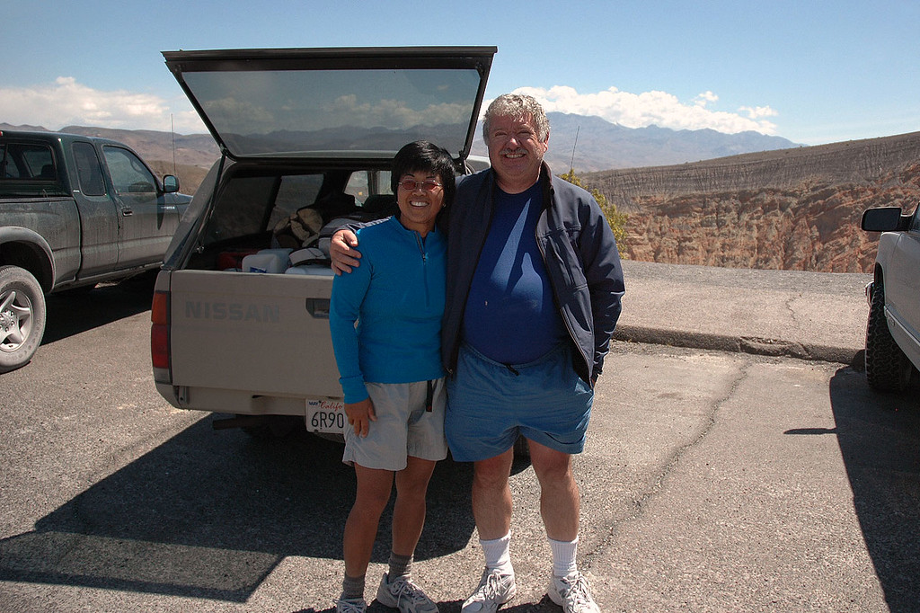 Juliet and Ron back at the parking area. They were going to stay another week in Death Valley.