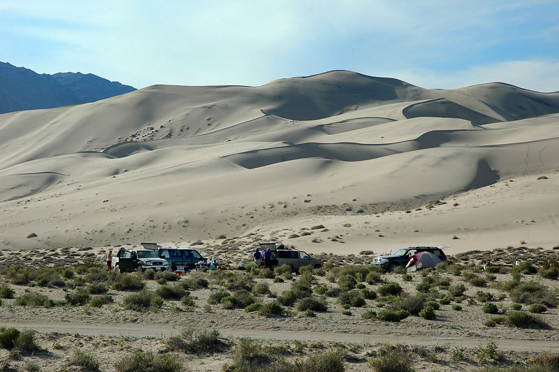 We found a great camp site on the north end of the dunes.