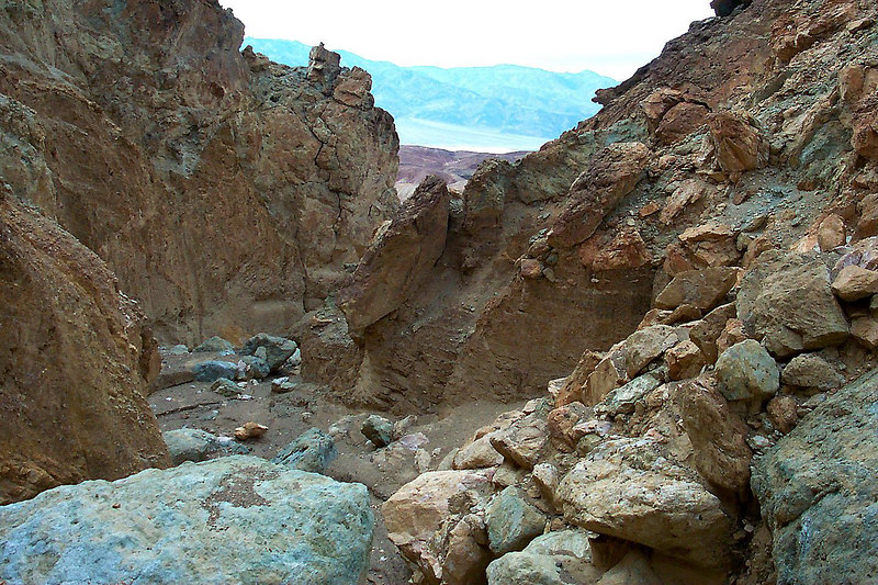 Looking back down the canyon from the top of a climb.