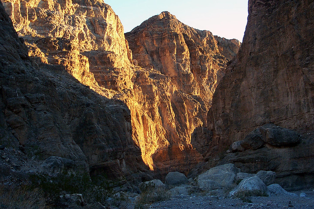The sun was getting low as we neared the end of the hike. We got back to the truck just as it got dark.