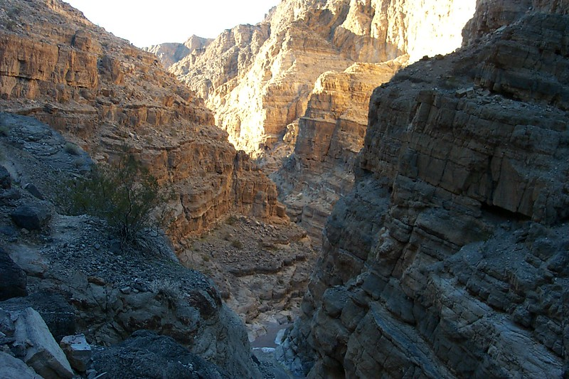 This is a view back down the canyon from the highest part of our climb around the falls.