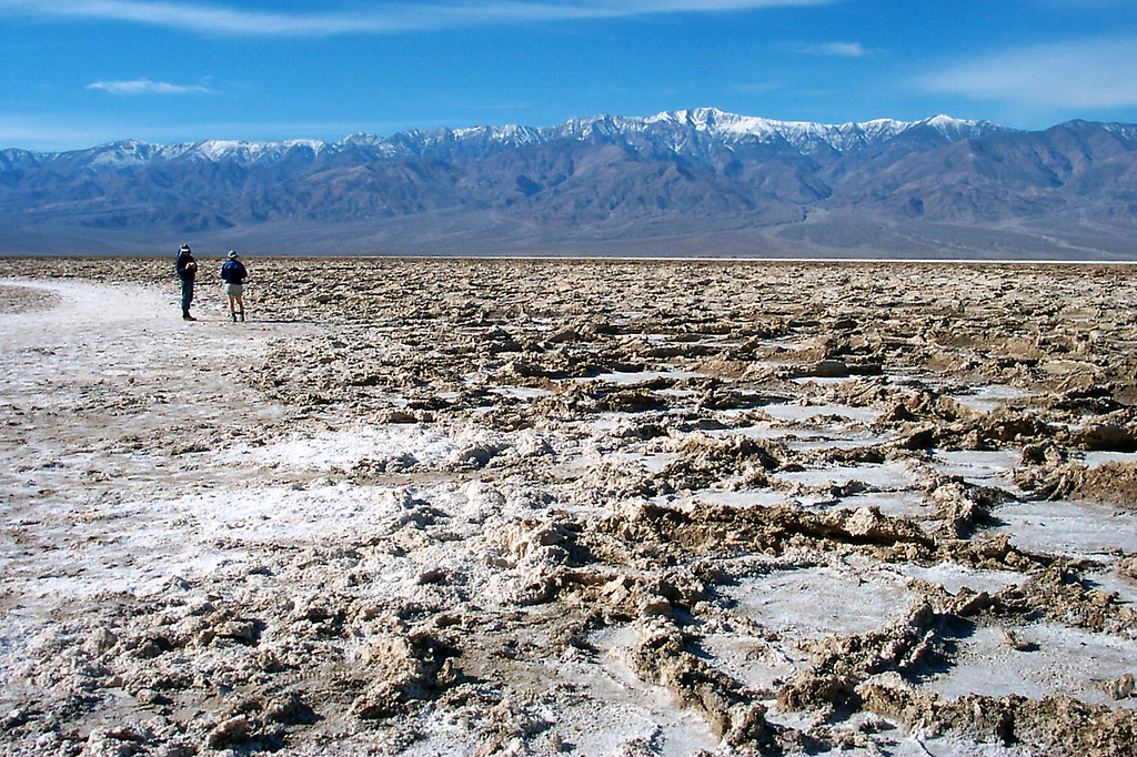 We hiked out to check out the salt formations. The highest peak is Telescope Peak 11,049'.