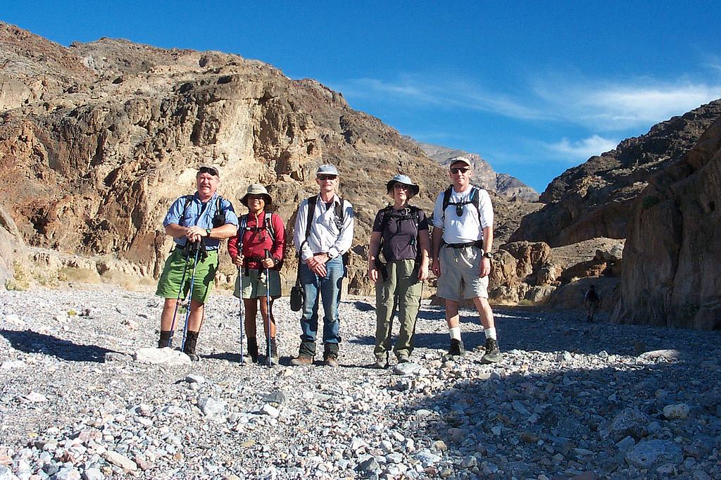 Ron, Juliet, Gary, Kathy and me, Joe at the mouth of Fall Canyon.