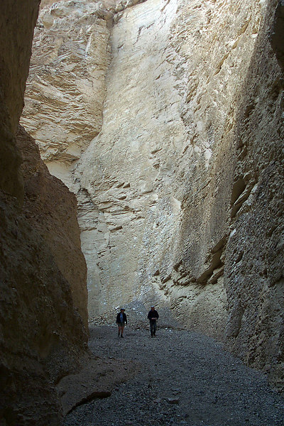 In the narrows.