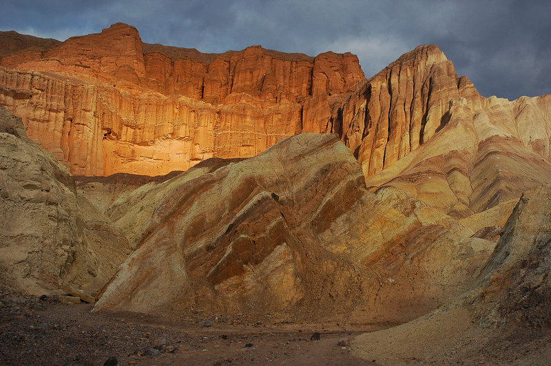 Since the trail to Zabriskie Point was closed, I continued on towards Red Cathedral.