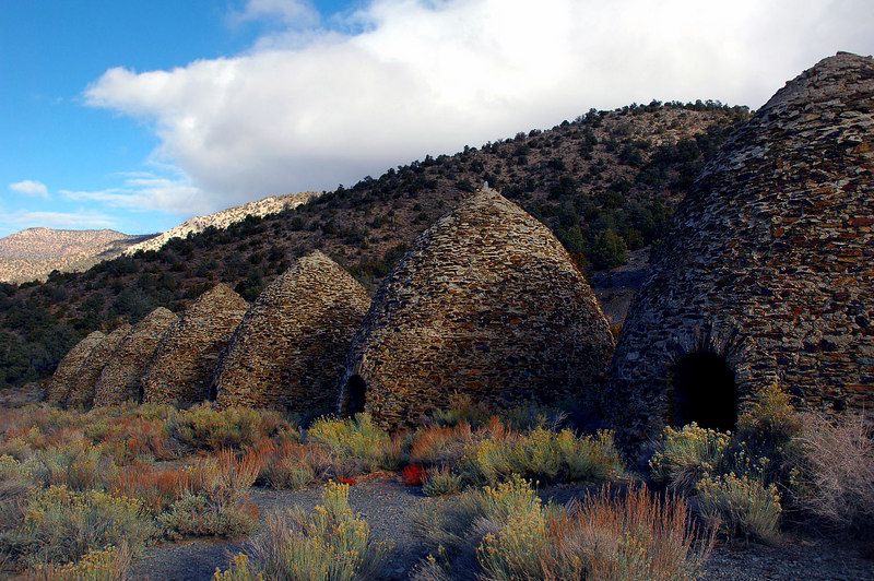 A shot of 7 of the 10 charcoal kilns that are here.