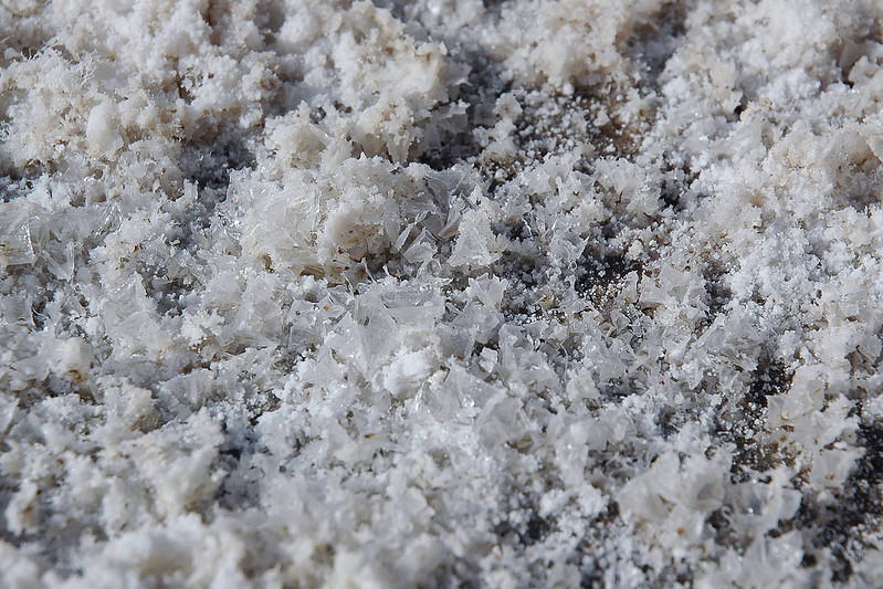 Close up of some salt crystals.