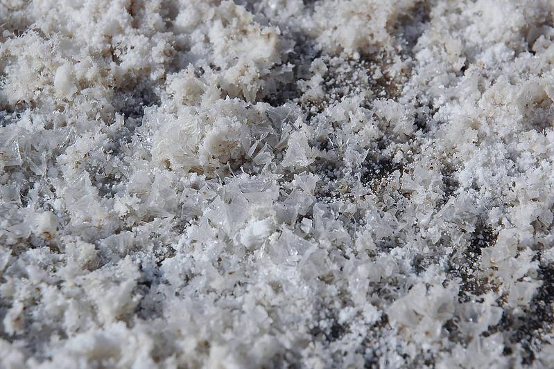 Close up of some salt crystals.