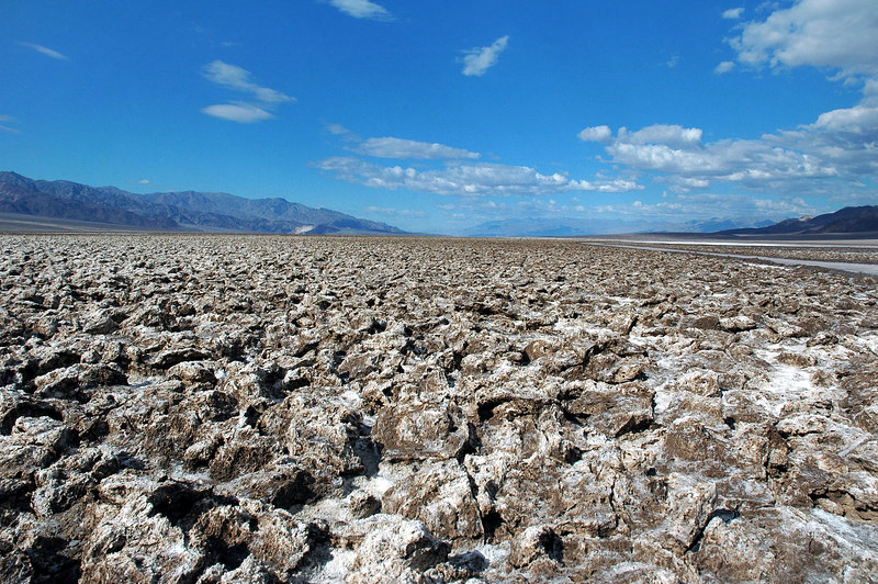 Devils Golf Course. Looks like the rains washed away all the sharp salt formations.