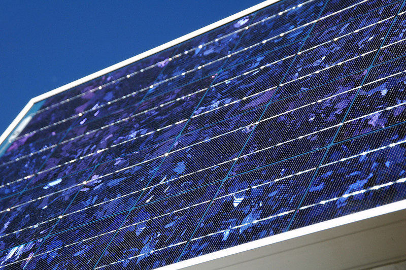 The solar panel on the repeater. I like the color and pattern.