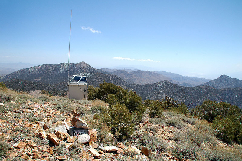 The peak register and repeater with a view to the southeast.